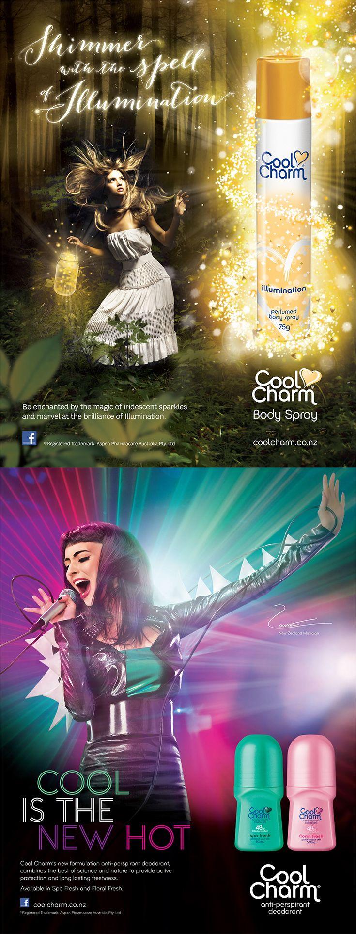 Cool Charm Press Ads.
