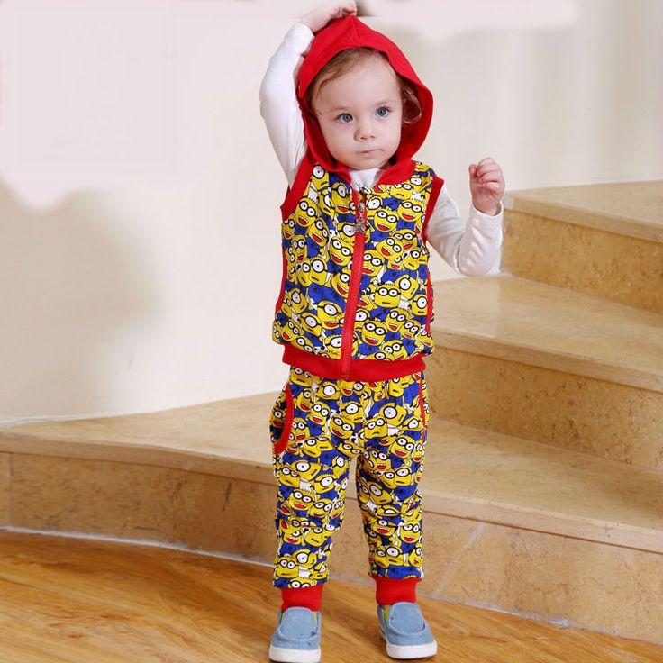 спортивный костюм Минни детей костюмы малыш маленький мальчик спорта с капюшоном устанавливает мальчики первый день рождения детские enfant характер молния 3 шт. комплект