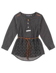 Romy & Aksel Denim Style Long SleeveTunic Blouse