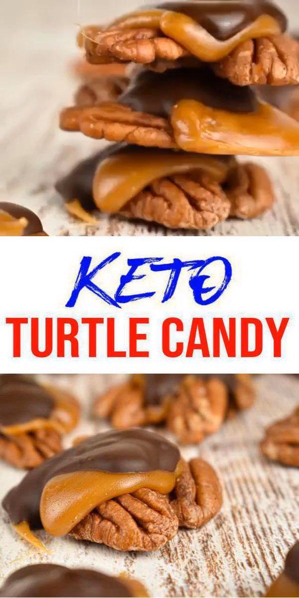 BEST No Bake Keto Candy! Low Carb Keto Karamell Schokolade Turtle Candies Idea – Zuckerfrei – 4 Zutaten Schnell und einfach Ketogene Diät Rezept – Komplett Keto-freundlich