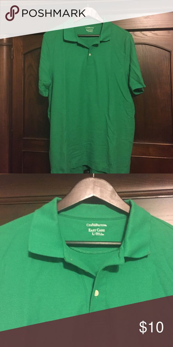 Men's Kelly green polo shirt Bright Kelly green men's polo perfect for weekend or casual day at the office. croft & barrow Shirts Polos