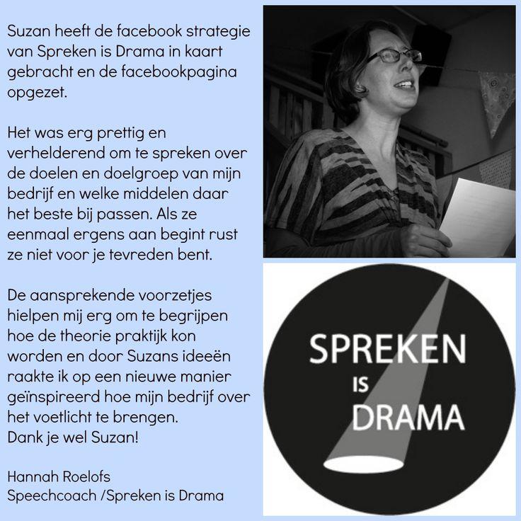 Aanbeveling Spreken is Drama