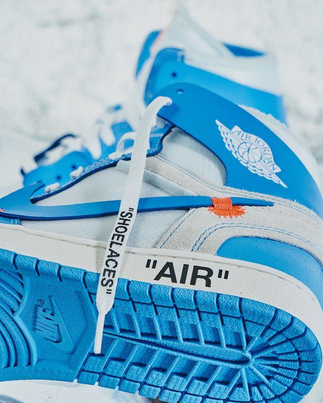 air jordan 1 off white bleu