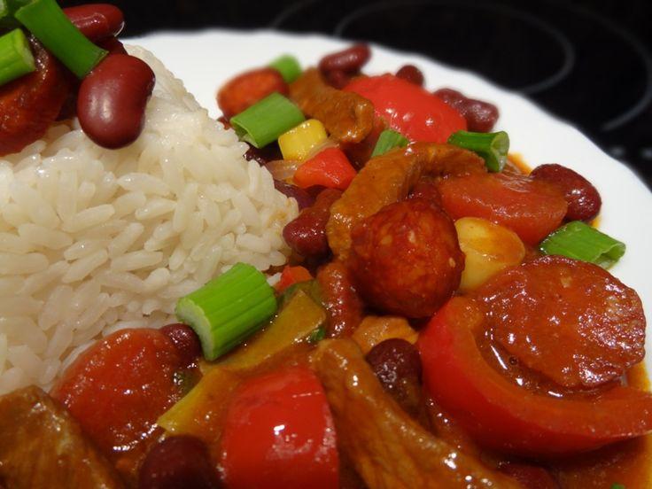 Mexický guláš s rýží