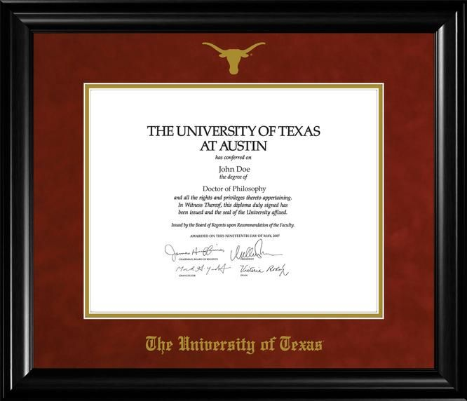 Pin By University Co Op On Ut Graduation Diploma Frame