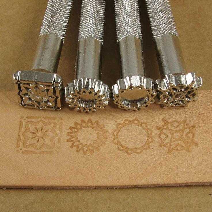 Spiral Designs Leather Stamp Set - Set of Four Metal Stamps. $35.00, via Etsy.