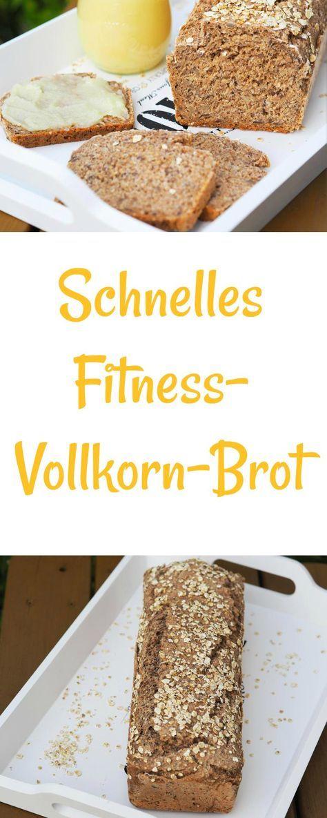 Ein leckeres schnelles Fitness - Vollkorn - Brot backe ich sehr gerne. Hoher Vollkornanteil und Joghurt. Gebacken in einer Kastenform. Mit oder ohne Thermomix sehr schnell zubereitet. Selbstgemachtes Brot schmeckt einfach am Besten.