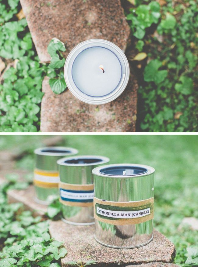 Homemade candles with citronella for Father's Day