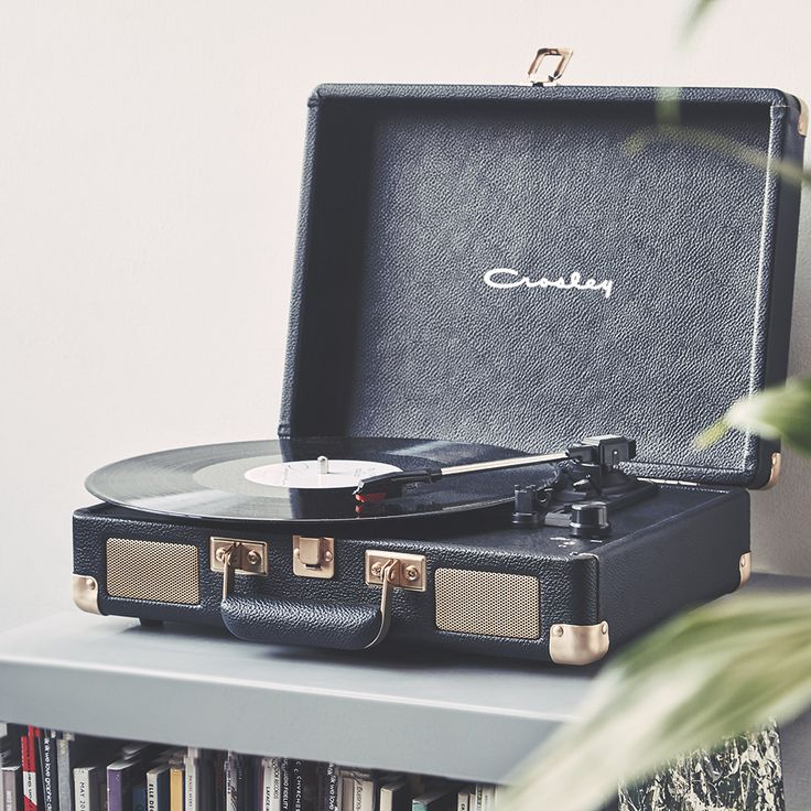 Crosley Cruiser Black and Gold Record Player