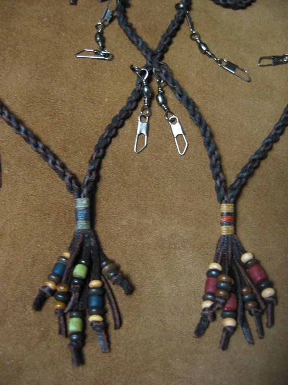 Fly Fishing Lanyard Corded Deerskin and Elk by evenlight on Etsy