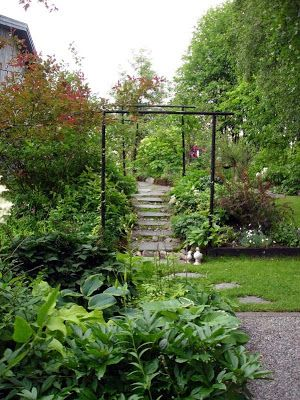 Tankar om och från min trädgård.: Enkla portaler i trädgården.