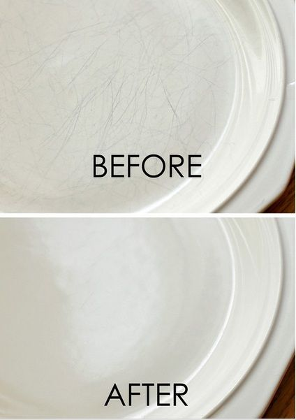 Remove scratch marks from your dishes