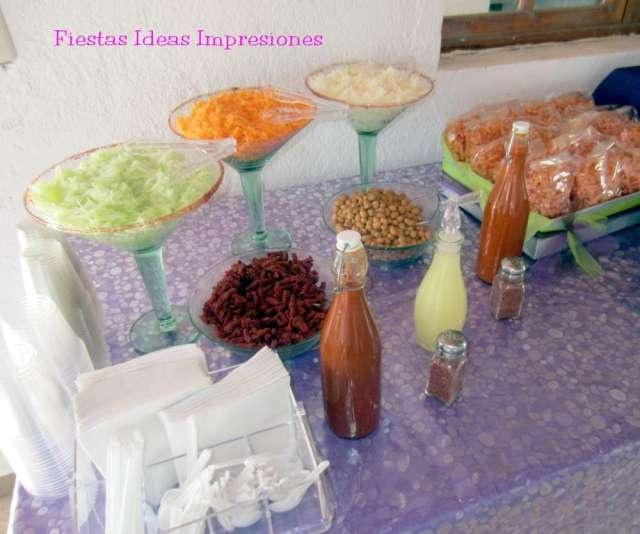 Mesa de Botana, snack, mesa de dulces, para despedidas, baby shower, decoración, mesa principal