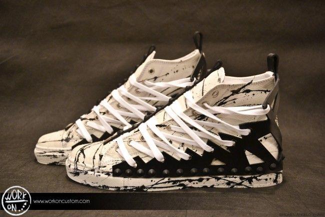 Work_On leather shoes - #leather #shoes #custom #studs #sneakers #workon #fashion #handmade #madeinitaly - www.workoncustom.com - mod. Bad & Dirty