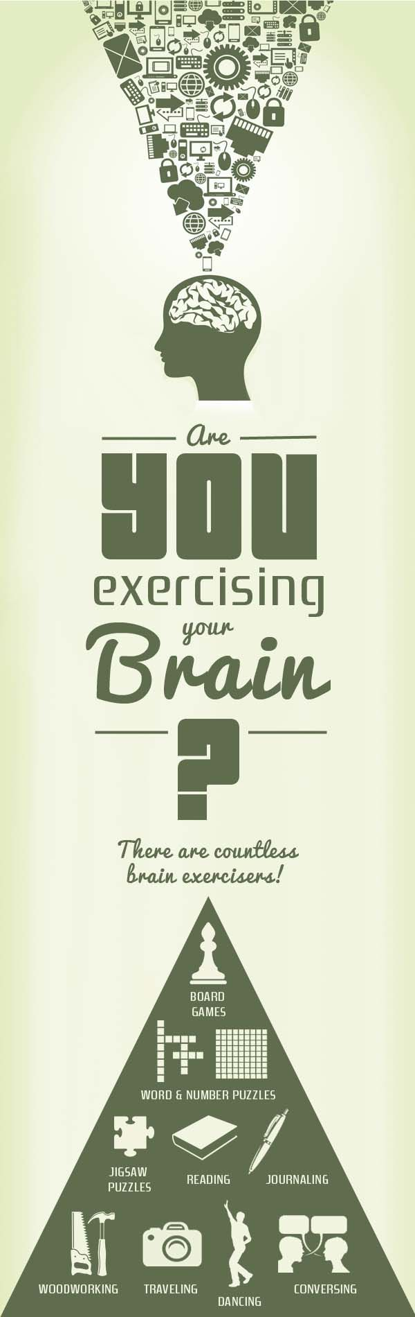 A healthy brain, like the rest of your body, requires exercise! Are you exercising your brain daily?