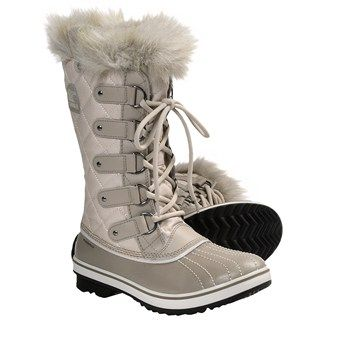 Sorel Tofino Canvas Pac Boots - Waterproof, Waxed Canvas (For Women) in Fawn/Verdant size 5.5