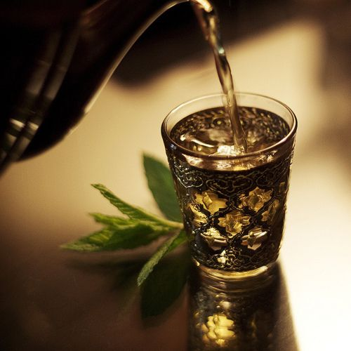 Exotic tea beautiful cup