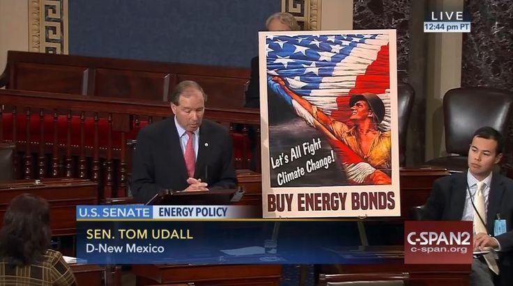 Who: Senator Tom Udall (D-New Mexico)  When: February 2016  What: Energy policy  Watch on C-SPAN  Read Congressional Record