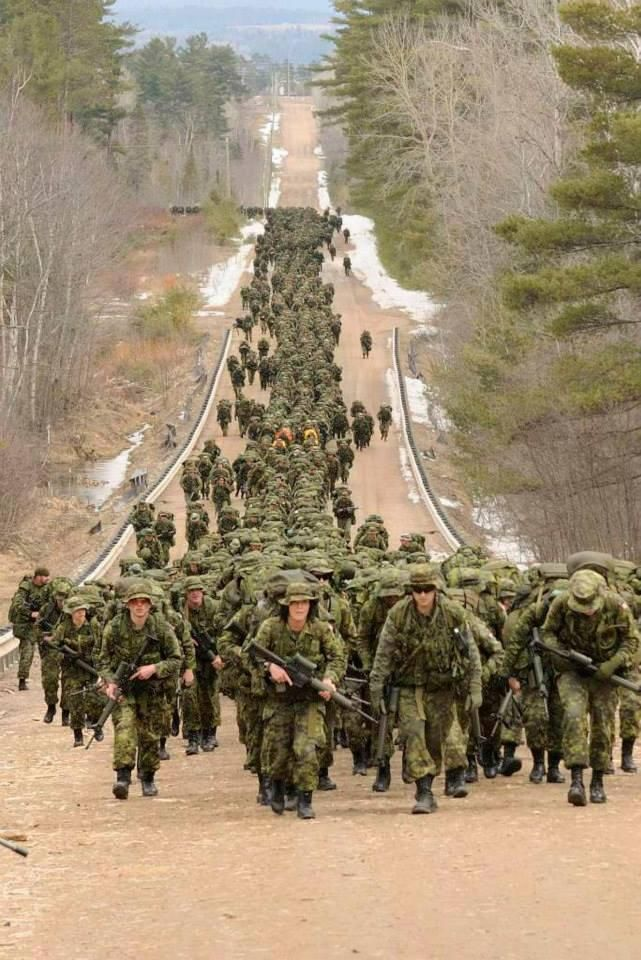 The 17 km. march which wasn't suppose to be. :( CFB Petawawa