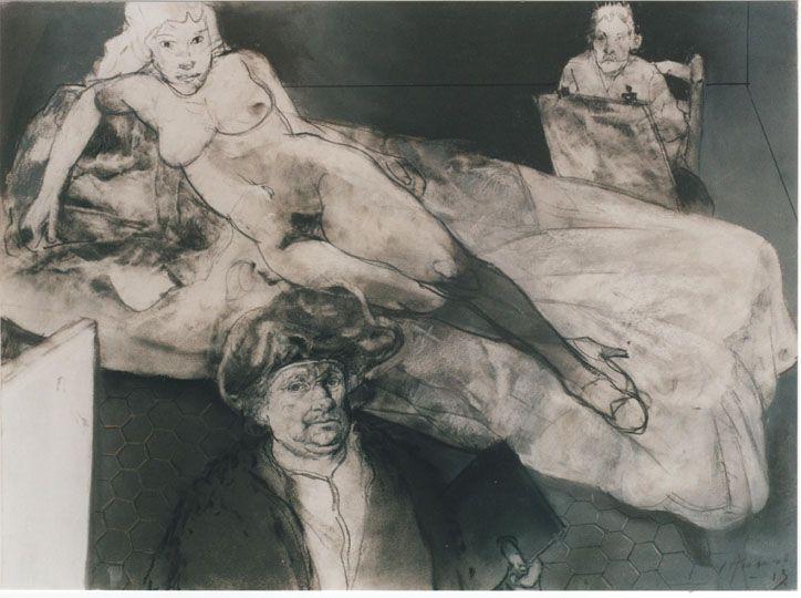 Holandeses, Desnudo con Rembrandt y Van Gogh (2003) Carlos Alonso
