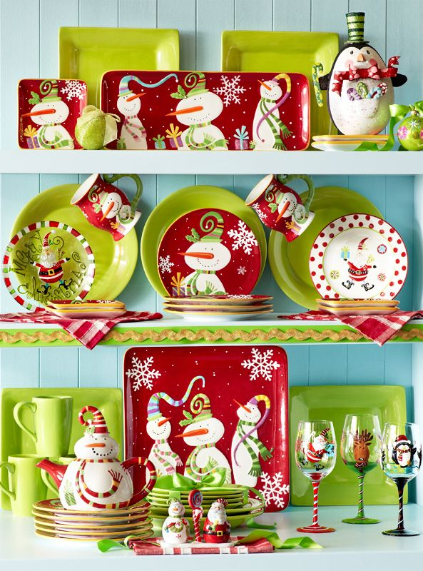 57 Beautiful Christmas Dinnerware Sets The snowmen on Pier 1 Jolly Holiday Serveware will make your heart melt  sc 1 st  Pinterest & 351 best Christmas Dishes images on Pinterest | Dish sets Christmas ...