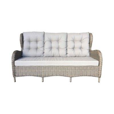Newton Poly Rattan 3 Seater Sofa