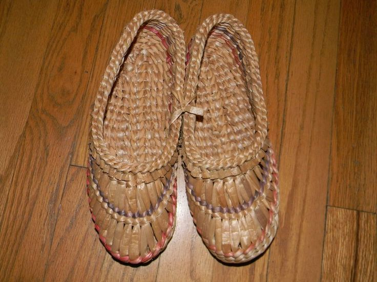 New Straw Shoes - Sauna Accessories - Collectible.  Selling on eBay.