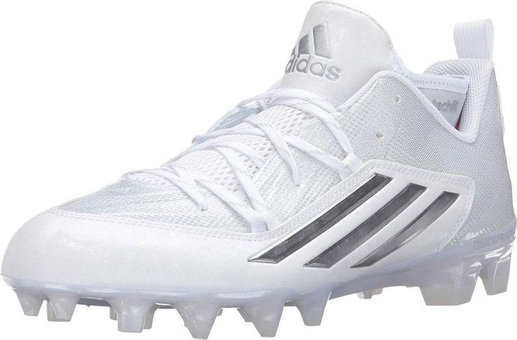 Adidas Crazyquick 2.0 Mens Calcio tacchetti 8.5 White-platino: Amazon.it: Scarpe e borse
