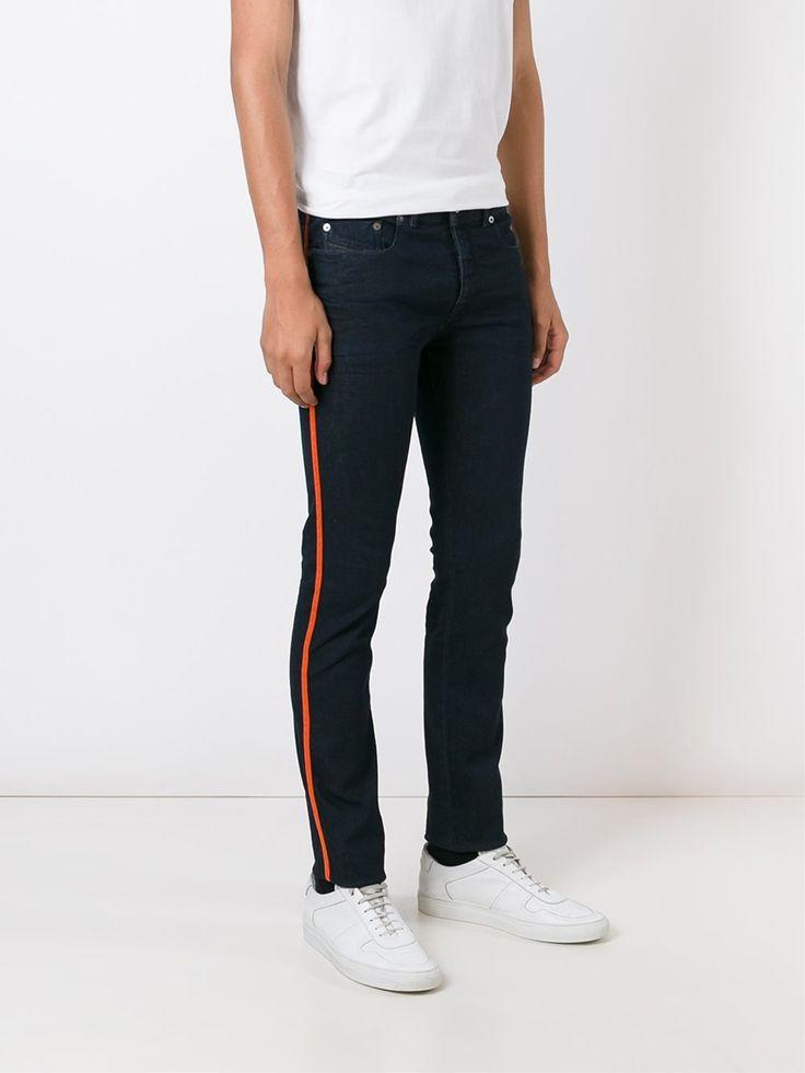Diesel Black Gold Skinny-Jeans mit seitlichen Streifen Herren Kleidung,diesel black gold pullover,Sonderverkäufe Günstige, diesel black and gold sale online shop
