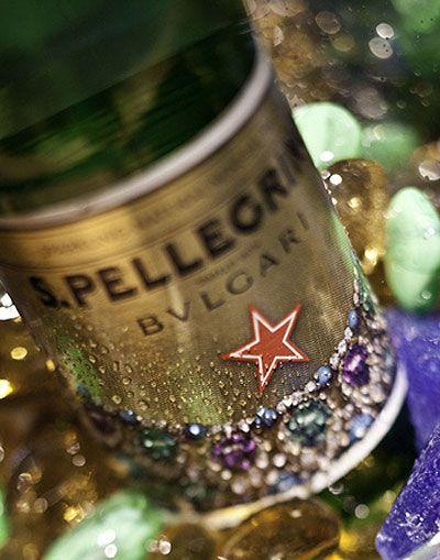 Sparkling bottles of Bulgari-designed Pellegrino.