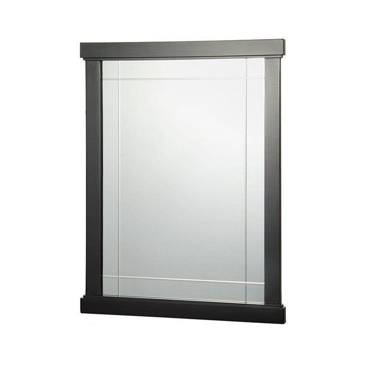 "Foremost FMZEEM2431 Zen 24"" Framed Wall Mounted Mirror Espresso Home Decor Mirrors Lighting"