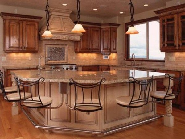 Eat In Island With Stove Kitchen Island With Attached Seats Love The Idea Of Never Having To