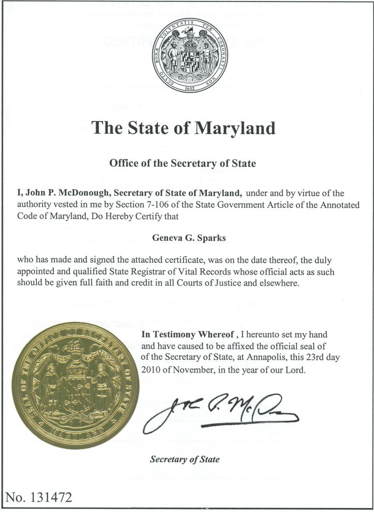 State of Maryland Apostille Notary & Apostille Service
