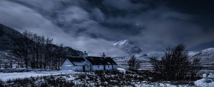 'Black Rock Cottage by Moonlight' in Glencoe, Scotland, by Scott Wilson.Best of Britain showcased in Landscape Photographer Of The Year Awards - Yahoo News UK