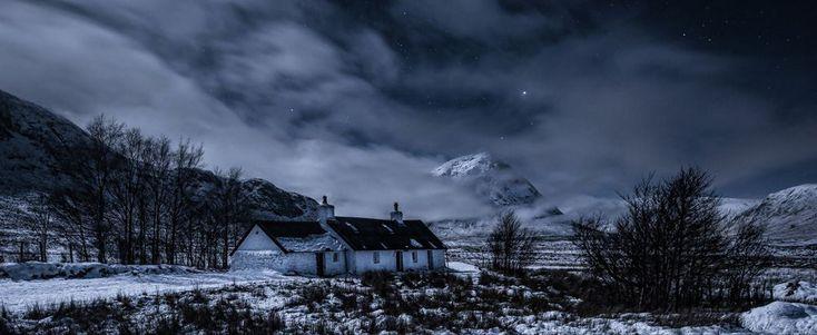 'Black Rock Cottage by Moonlight' in Glencoe, Scotland, by Scott Wilson.