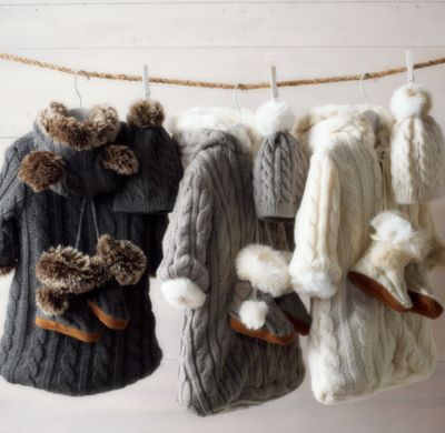 Rh Cable Knit Amp Luxe Faux Fur Bunting Ataahua Tamariki