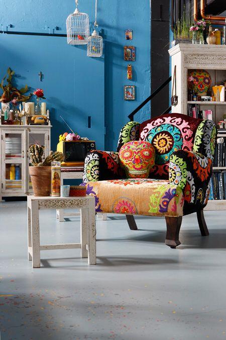 KARE Design - Taberna collection - Ibiza style - Mandala chair #kare #karedesign #mandala #chair #summer #living #home #white #ibiza #trend #holiday #taverna