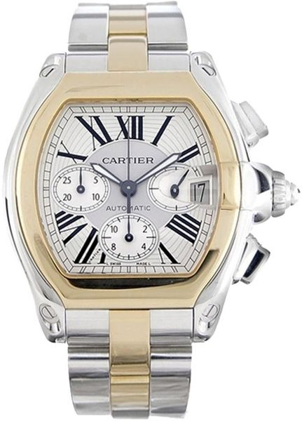 W62027Z1 Cartier Roadster XL Gold & Steel Automatic Chronograph Watch