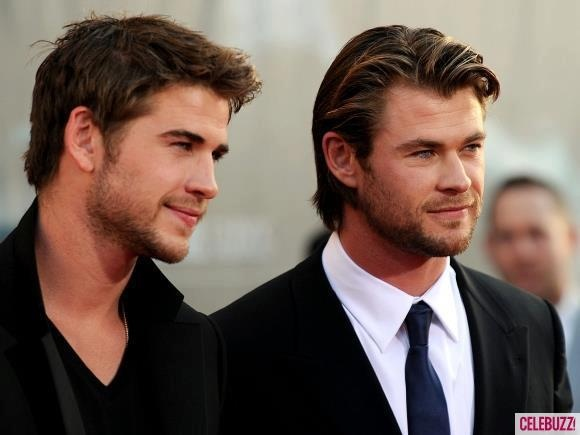hemsworth brothers. Those eyes.