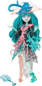 """Monster High Dolls: Haunted Student Spirits Vandala Doubloons Doll Vandala Doubloons is the Daughter of a Pirate Ghost. She wears a hauntingly boo-tiful outfit with chain details and a removable peg leg. Vandala claims that she is not much of a """"Troublemonster"""", but she does like her adventures. shoe has an open treasure chest with gold spilling out on the back.  http://awsomegadgetsandtoysforgirlsandboys.com/monster-high-dolls/ Monster High Dolls: Haunted Student Spirits Vandala Doubloons…"""