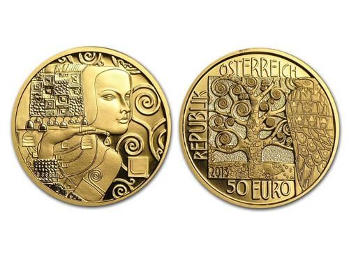 Coin of the Year 2015 Moneta Austriaca 50 Euro dedicata a Klimt