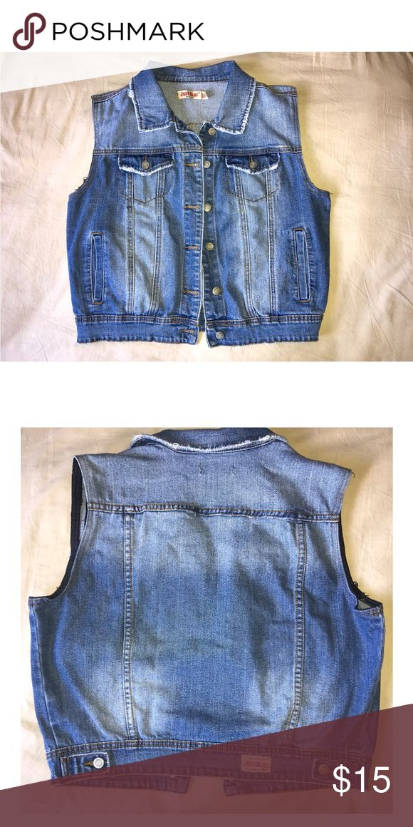 Sleeveless jean jacket Blue sleeveless jean jacket that goes great with almost anything judy blue Jackets & Coats Jean Jackets