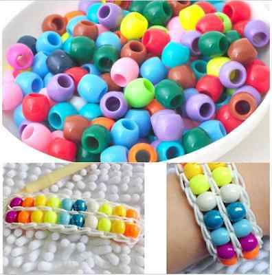 Colourful Charms 40pcs  Pony Beads For Rainbow Rubber Bands Loom Bracelet Crafts