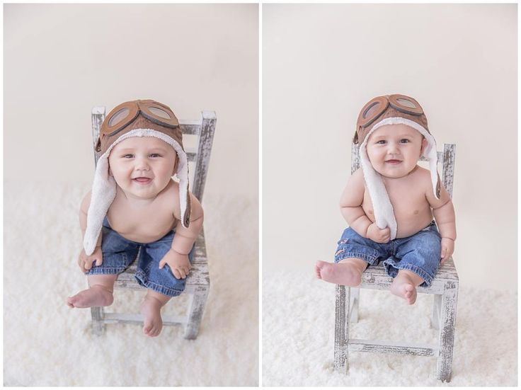 Six month old session kids aviation photos · photography kidsaviationinfant photographychildren photography