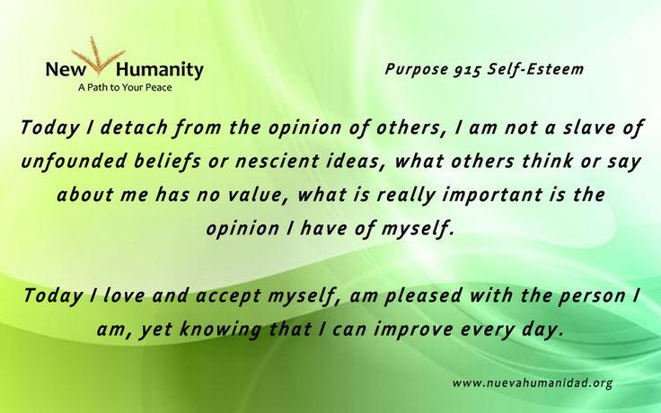 Purpose 915 Self-Esteem