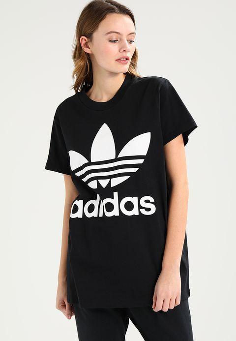 433eb6ee45d Bestill adidas Originals ADICOLOR BIG TREFOIL TEE - T-shirts med print -  black for
