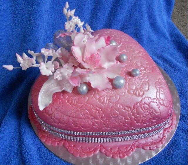 srdce růžové k 50 | dorty od mámy