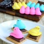 Peeps S'mores for Easter: Recipes Ideas, Easter Recipes, Peeps Smore, Pumpkin Spice Cookies, Eclecticrecipes Com Recipes, Peeps S More, Easter Ideas
