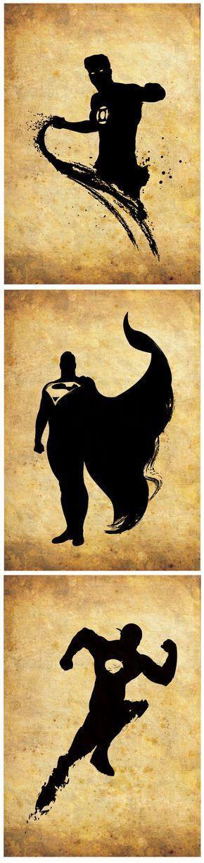Silueta de superhéroes / Liga de la justicia / por RightBrainJooz