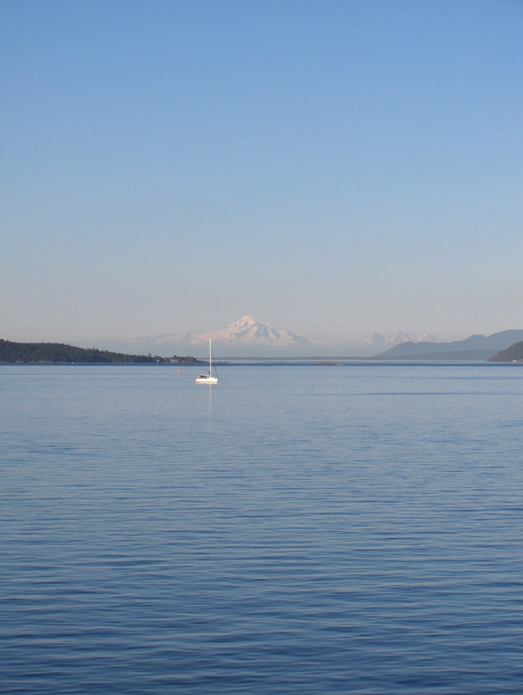 Mount Baker from Gulf Islands BC Canada